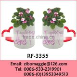 Professional Zibo Manufactured Promotion Ceramic Vase and Pot for Flower for Wholesale