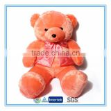 Big size toy teddy bear with ribbon