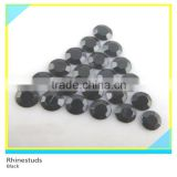 Hotfix Metallic Rhinestud Black Round Flatback Ss10 3mm 300 Gross Package