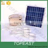Solar Panel Lighting Kit, Solar Home DC System Kit, USB Solar Charger with 4 LED Light Bulb as Emergency Lighting