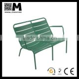 hot sell Aluminum fermob luxembourg low back 2 seat chair