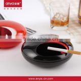 D535 ANYA Unique hot sell UFO ceramic ashtray plastic promotion gift glass ashtray                                                                         Quality Choice
