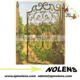 China Factory of Decorative Casting Iron Gates Designs /customized powder coated wrought iron gate driveway gate for house