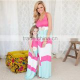 New Hot mommy and me maxi dress apparel baby clothing woman dress designer one piece party dress