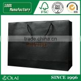 Black Special Paper Garment Paper Bag with Hot Stamping Logo