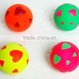 2014 colored Best training pet toy rubber foam ball