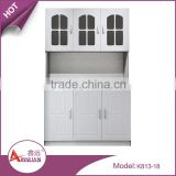 Customized dining room furniture simple design removable pvc white wood mdf cheap kitchen cabinets