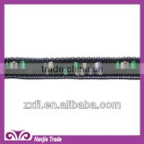 Wholesale decorative black ribbon for dress