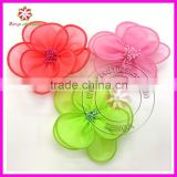 Silk organza fabric flowers