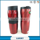 Sport Insulated Stainless Steel Thermos Mug/Travel Mug/Vacuum Flask With Silicone Sleeve