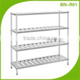 (BN-R01) Cosbao Premium Stainless Steel Kitchen Storage market shelves/market shelves/dish rack