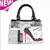 Lady Handbag and Tote Bag with Color Printing of vintage Fashion/ New Design Wholesale Fashion Gift