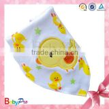 2015 High Quality Wholesale Yellow Chick Bandana Baby Bibs Wholesale Kids Fashion Scarf