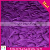 high quality french chiffon 3d flower embroidery thick lace fabric                                                                         Quality Choice