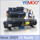 Hangzhou Yemoo Copeland 8hp water chiller unit with refrigeration parts like water cooled condenser