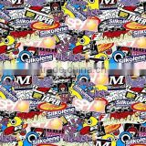China Colorful car wrap hydrographic film sticker bomb