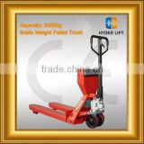 scale weight pallet trucks telescopic loader