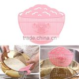 Cute Practial Home Kitchen Rice Washing Cleaning Tool Beans Peas Wash Gadgets Plastic pink sieve 2015 new Promotion