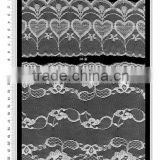 beaded chantilly nylon french border lace trimming/brocade lace trimmings/tulle brode tissu