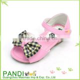 2015 New design casual fashion girls PU sandal with bow