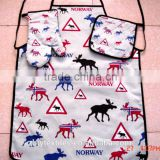 Hot sale 100% cotton printed apron & oven mitt set for kitchen-27                                                                         Quality Choice