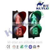 Wholesale 300mm led pedestrian countdown timer clock traffic signal lights with factory price