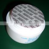 Cap pressure sensitive seal liner self adhesive