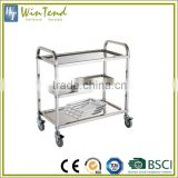 Hospital cleaning 3-Tier stainless steel dressing medical trolley                                                                         Quality Choice