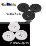 38mm(60L)Dia. Fashion Resin Round Button With Four Hole Sewing Craft DIY Accessories For Bag Garment #FLN002A-38