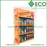 Corrugated material sidekicks cardboard display for shampoo display stand, wall mounted advertising display