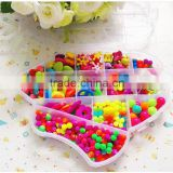 Wholesales kids handmade educational colourful diy beads set for girl and boys funny toys