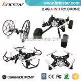 2.4G 4CH RC wall climbing and flying skywalker quadcopter control with camera.