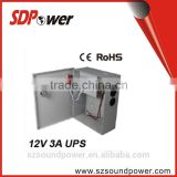 SDPower 36W 12V3A UPS/Metal Power Case for CCTV Camera with 190 to 240V AC Input Voltages, Single Output, high quality