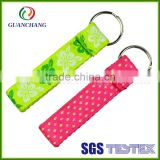 Cute Custom embroidery fabric keychain in bulk