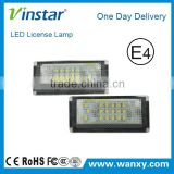 For BMW E46 4D Sedan 1998-2003 E46 5D Touring 1998-2003 LED License Plate Light LED License Light for white color