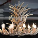 Special Edison light Resin Vintage style Antler Deer Horns lamp 9 head chandeliers