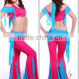 SWEGAL belly dance costume for sale,belly dance fashion gauze training costume SGBDT14009