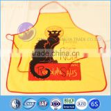 Household kitchen aprons waterproof/embroidery polyurethane aprons/kitchen designs apron
