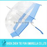 Manual Open Straight Clear PVC cafe umbrella For Promotion