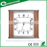Solid wood antique double sided plain wall clock