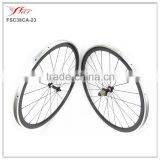 3K Glossy alloy brake surface carbon bicycle wheels 38mm deep 23mm wide carbon alloy clincher wheelset 20H/24H