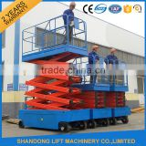 Full electric work platform scissor working platform lift table self-propelled lifters with CE