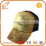 Cheap custom sublimation heat transfer printing mesh baseball caps                                                                                                         Supplier's Choice