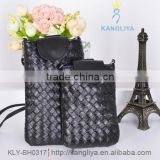 Little coin purse knitting mobile phone shoulder bag girls liny strap long cross body bags