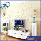 Warm country dandelion wallpaper study bedroom non-woven wallpaper wall decoration paper