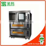 Shentop STPAD-B24 Two deck four trays electric oven hot air circulation furnace Combined furnace