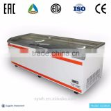 Auto-defrost Function Commercial Deep Freezer With Coating Tempered Low-e Glass Door