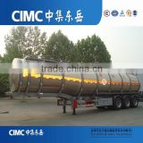 40tons 42000Ltrs 3 axles aluminum 54 m3 fuel tank truck trailer with handrail for sale