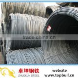 12mm SAE1006/1008/1010B Hot Rolled Carbon Structural Steel Wire Rods from Tangshan Zhuokun