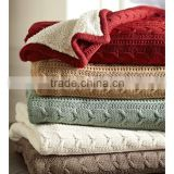 Good quality knitted cozy cable throw